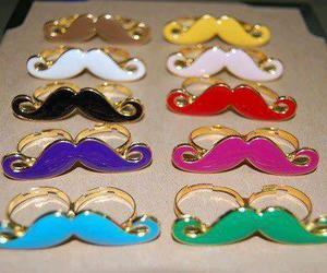 mustache, rings, and moustache image