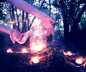 candle, nature, and light image