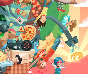 scott pilgrim and Katamari image