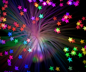 stars, colors, and neon image