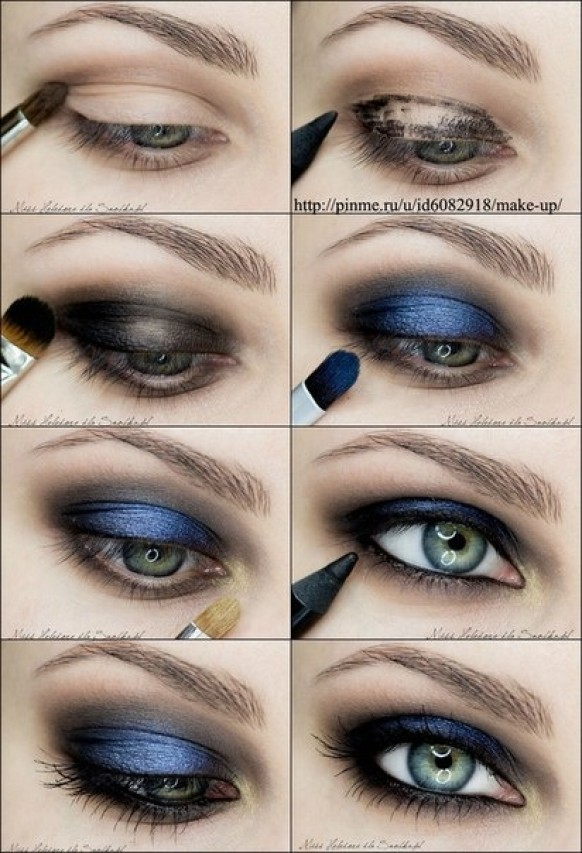 Make up tutorial uploaded by merediith on we heart it.