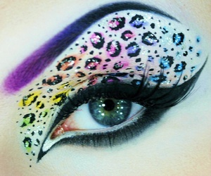 eyes, pretty, and leopard image