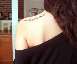 tattoo, heart, and shoulder image