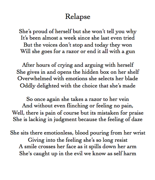 Ride or Die. (s-e-l-f-h-4-t-e: New favorite poem.)