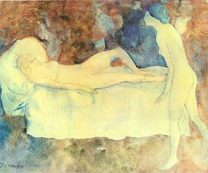 1904, bed, and Pablo Picasso image