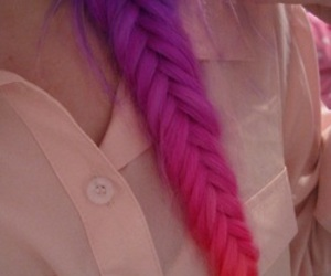 pink, purple, and dip dyed hair image
