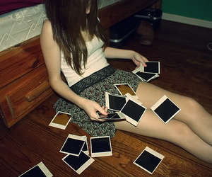 girl, photography, and polaroid image
