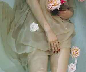 bath, dress, and flower image