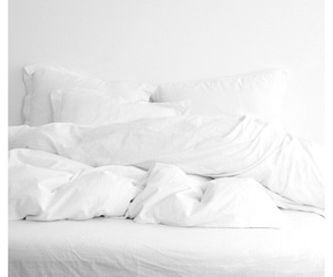 white, bed, and grunge image