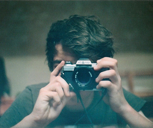 boy, camera, and hair image