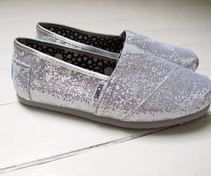 toms, shoes, and glitter image