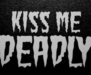 kiss, black and white, and text image