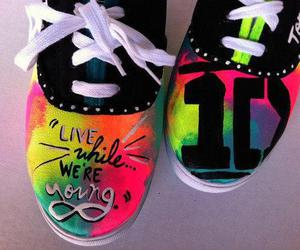 colourful, rainbow, and shoes image