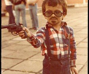 gun, kids, and boy image