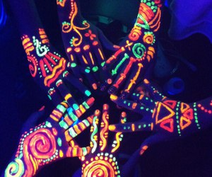 neon, friends, and hands image