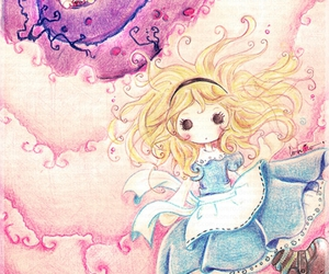 alice, alice in wonderland, and pink image