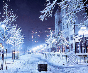 christmas, snow, and landscape image
