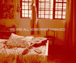 damaged, guitar, and quote image