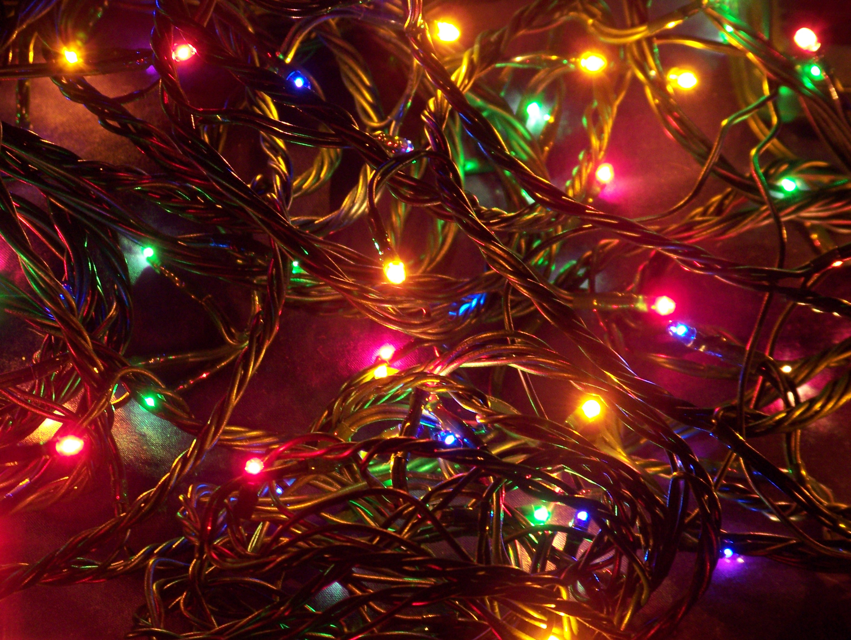 New Christmas Lights Wallpaper , Christian Background