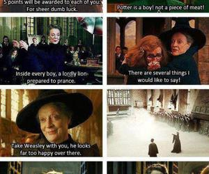 harry potter, professor mcgonagall, and hogwarts image