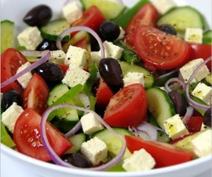 food, salad, and tomato image
