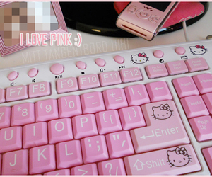 hello, kitty, and pink image