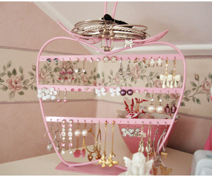 apple, jewelry, and pink image
