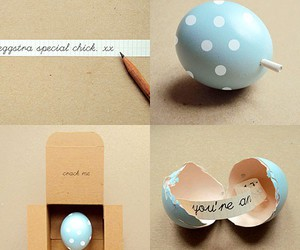 egg, gift, and message image