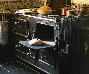 oven, stove, and rustic image