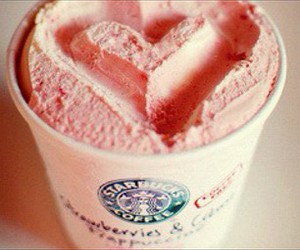 starbucks, pink, and heart image