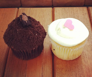 chocolate, comida, and cupcake image