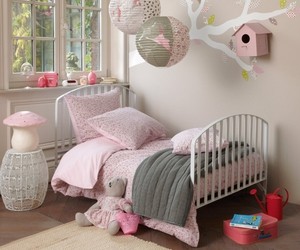 baby, pink, and room image