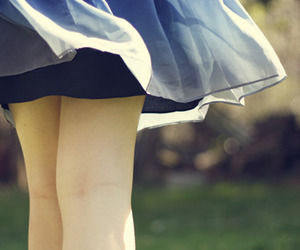 girl, legs, and skirt image