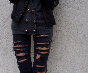 fashion, jeans, and black image