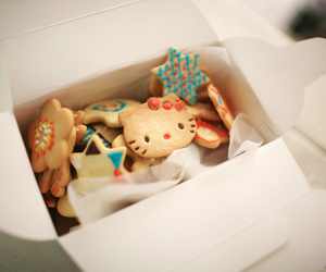 hello kitty, Cookies, and food image
