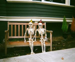 skeleton, vintage, and indie image