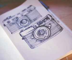camera, drawing, and photography image