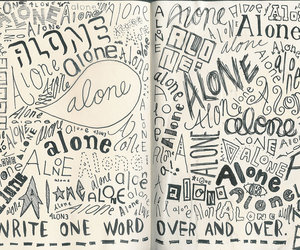 alone, diary, and journal image