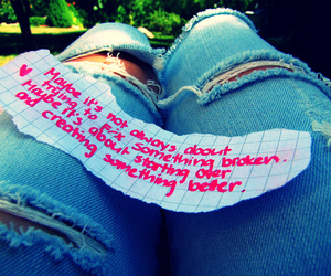 jeans, quotes, and text image