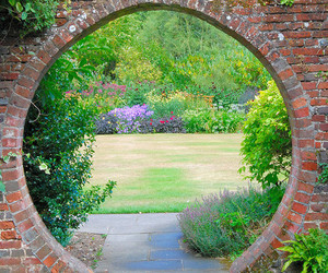 garden, mystery, and path image