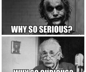 joker, curious, and serious image
