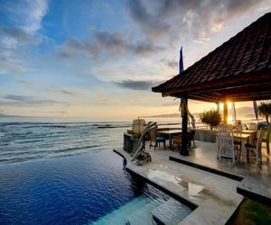 holiday, pool, and sea image