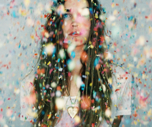 girl, photography, and confetti image