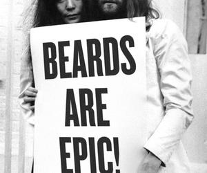 beard, john lennon, and Yoko Ono image