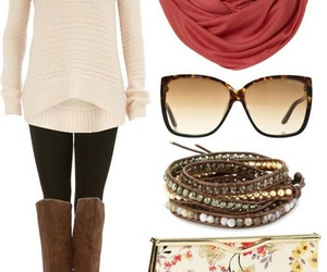 fall fashion, scarf, and skinny pants image
