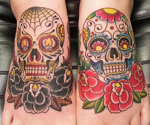 amazing, flowers, and mexican skull image