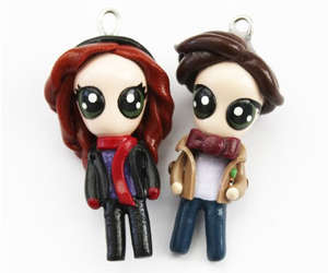 charms, doctor who, and amy pond image