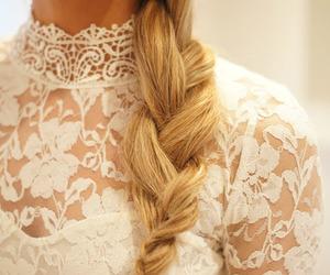 braid, blonde, and hair image