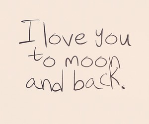 quote, moon, and love image