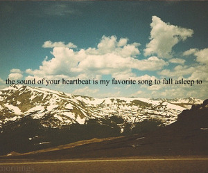 heartbeat, quote, and mountains image